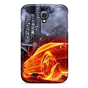 Brand New S4 Defender Case For Galaxy (creative Burning Car)