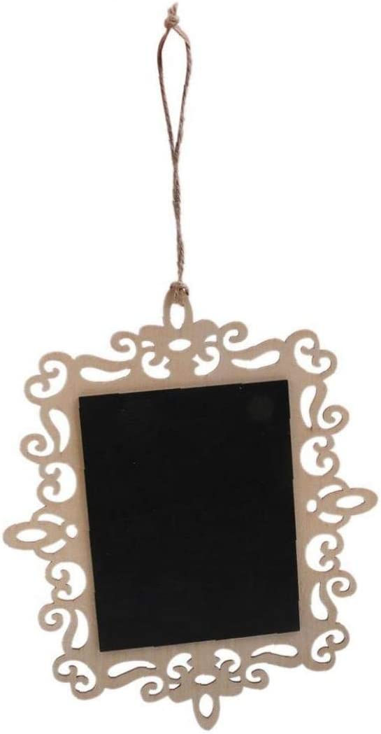 Mini Hanging Writing Board Memo Chalkboards Rectangle Hangable Sign Blackboard With Burlap Rope For Wedding Parties Decor