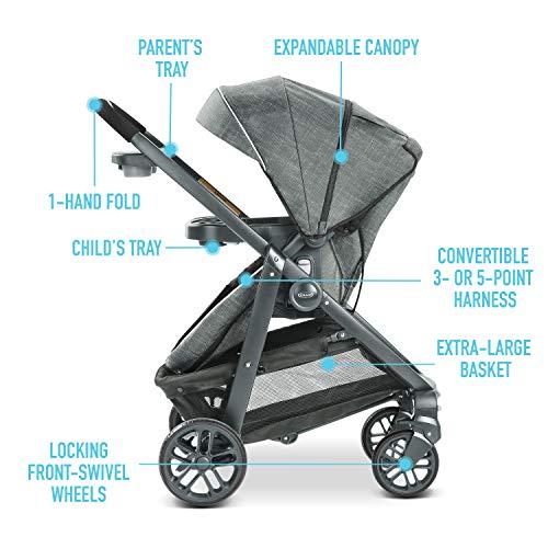 51dPShCdSZL - Graco Modes Bassinet Travel System | Includes Modes Bassinet Stroller And SnugRide SnugLock 35 Infant Car Seat, Wynton