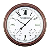 Luster Leaf 20053 Henley Outdoor Clock with Thermometer
