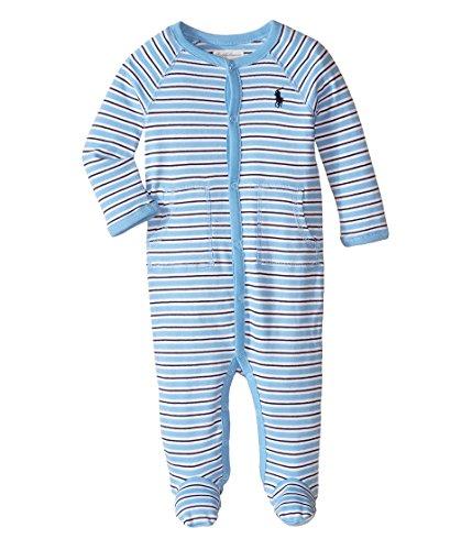 Ralph Lauren Baby Baby Boy's YD Interlock Stripe Coveralls (Infant) Suffield Blue Multi Baby One Piece 3 mos
