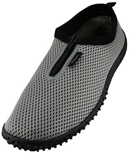 Wave-Mens-Waterproof-Water-Shoes-Gry-Zpr-10