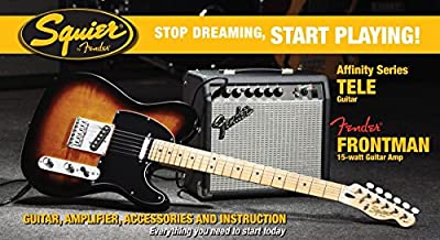 Squier by Fender Affinity Tele Electric Guitar Pack with Fender Frontman 15G - Brown Sunburst by Fender Musical Instruments Corp.
