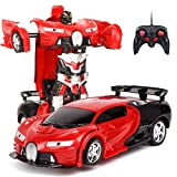 SODIAL 2 in 1 RC Car Sports Car Transformation Robots Models Remote Control