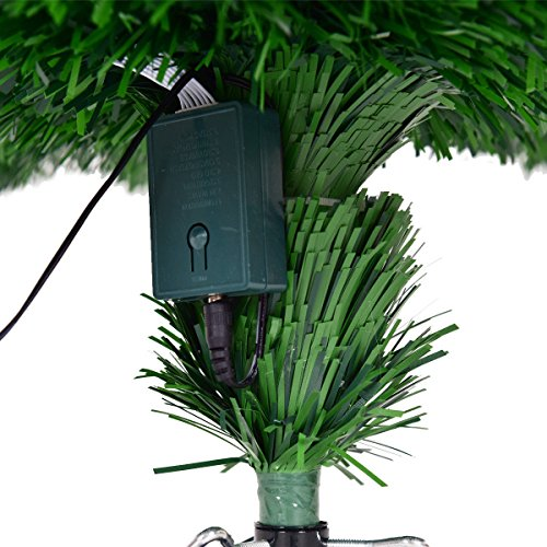 Goplus Artificial Christmas Tree Pre-Lit Optical Fiber Tree 8 Flash Modes W/UL Certified Multicolored LED Lights & Metal Stand (7 FT) by Goplus (Image #4)