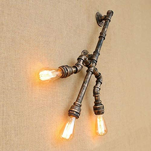 ZPP Hotel Cafe Living Room Bar Wall Lamp, Wall Decoration Lamps, Retro Wall Lamp Forked Water Pipe Wall Lamp Industrial Balcony Creative Personality Restaurant Bar