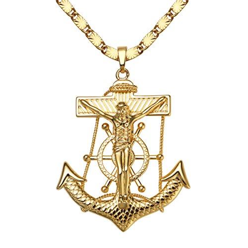 Anchor Crucifix Pendant - 2