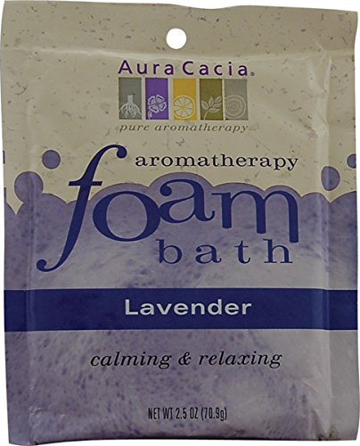 Relaxing Lavender Foam Bath - Aura Cacia Foam Bath - Relaxing Lavender 6 / 2.5 oz Pkts