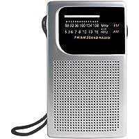 Laser Pocket Portable Radio AM FM Built-in Speaker and Earphones Socket