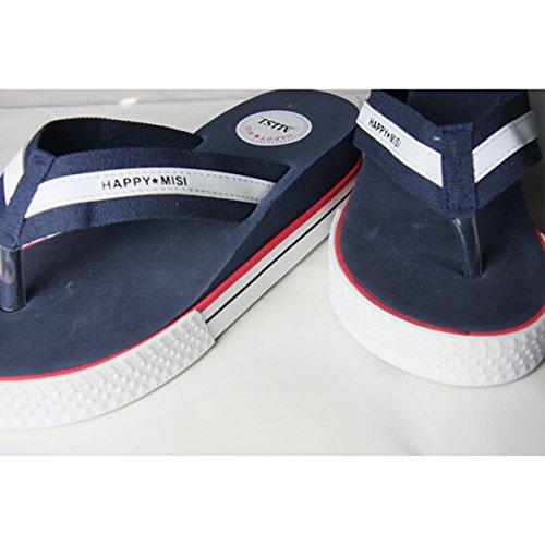TOOGOO(R) Flip Flops Frauen Sandalen Sommer Schuhe Frau Plattform Sandalen Wedge Damen hoher Absatz Schuhe Strand Sandalen Groesse 5 Leopard Blau