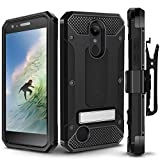 LG Aristo 2/LG Tribute Dynasty Case, Evocel [Explorer Series Pro] with FREE [Glass Screen Protector] Premium Full Body Case [Rugged Belt Clip Holster][Metal Kickstand], Black