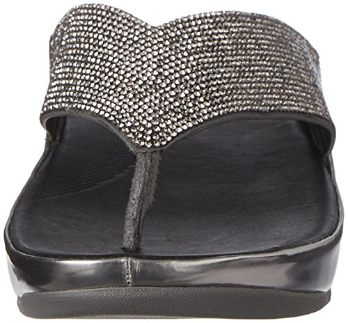 Fitflop Crystall Sandalias Negro Pewter