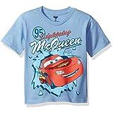 Disney Little Boys' Toddler Cars Short Sleeve T-Shirt, Light Blue, 4T