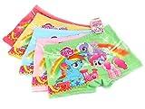 LEMONBABY My Little Pony Little Girls Assorted Boxer Briefs (Pack of 5)