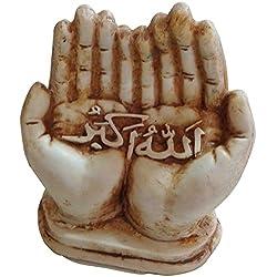 "4"" Home Decor Resin Figure Sculpture Mohamed Muhammed Muslim Islam Dua Quran koran Arabic Arabian Arab Calligraphy Islamic Muslim ALLAH Dua Arabic Calligraphy Ramadan Eid Gift 501 (Model #2)"