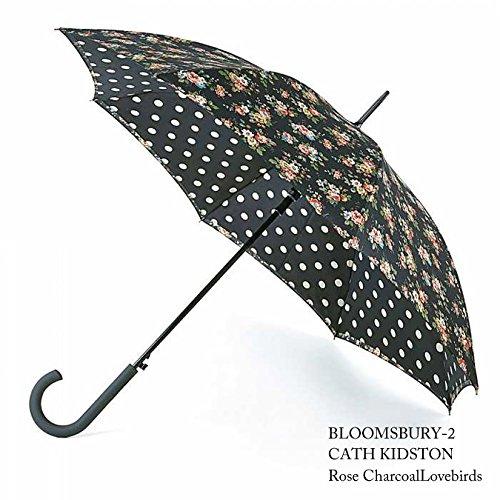 FULTON フルトン x Cath Kidston コラボ ブルームズベリー Bloomsbury キングスウッド ローズ チャコール 傘 L778 B07B7HJ9TY