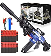 Electric Automatic Blaster Toy Guns Compatible with Nerf Guns Bullets, 3 Modes Burst Soft Bullets...