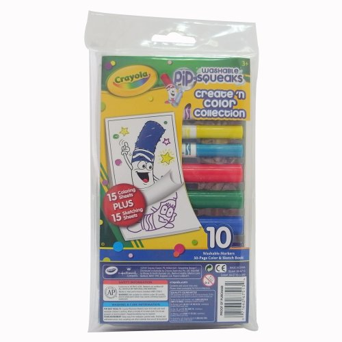 Crayola Washable Pip Squeaks Markers Create 'N Color Collection ()