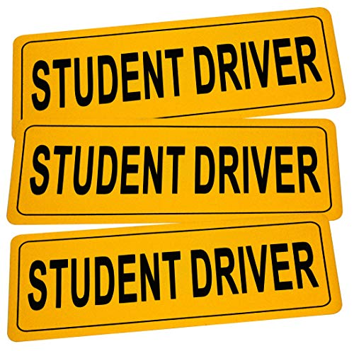 (RuBao Student Driver Sign, Reflective Student Driver Magnets for Car (B Style))
