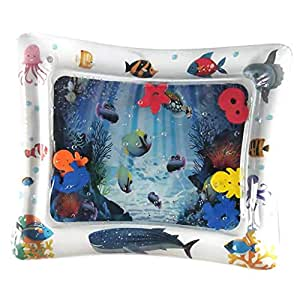 Blesiya Kids Water Filled Mat for Baby Toddlers Inflatable Mattress Splash Play Accessory