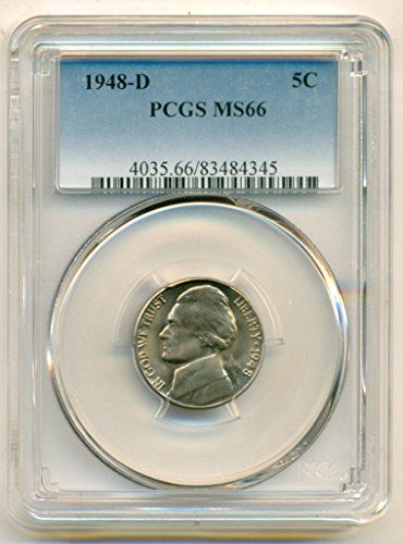 1948 D Jefferson Nickel MS66 PCGS