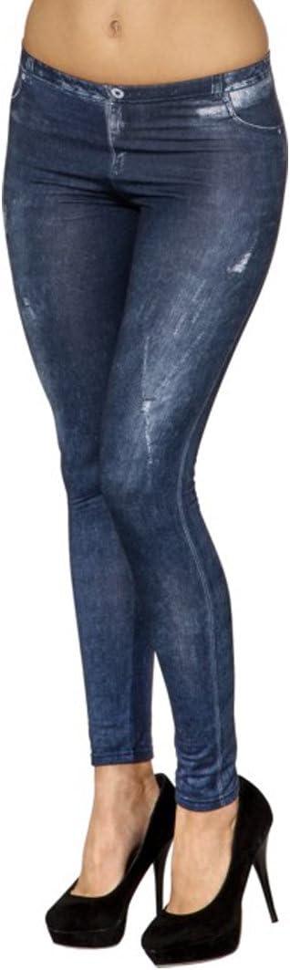 | Leggins Jeanslook Pantacollant Effetto Denim NET TOYS Leggings con Effetto Jeans S//M Fuseaux Effetto Denim IT 40-46