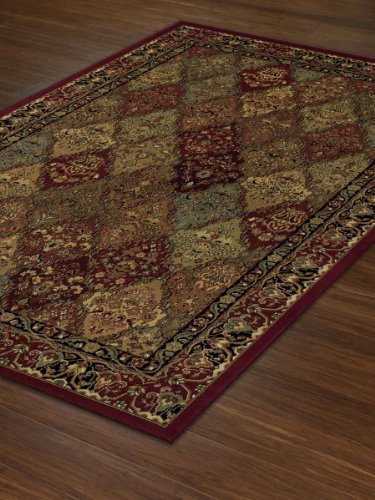 Traditional Oriental Green Patchwork Carpet product image