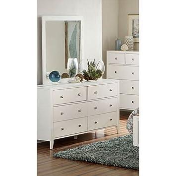 Amazon Com Ne Kids Pulse 6 Drawer Dresser And Mirror In White