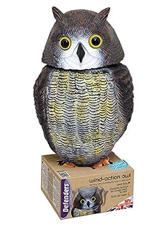 Attractive Defenders 17.3 X 19 X 39.5 Cm Wind Action Owl (Lifelike Decoy Deterrent,  Scares