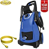 Sun Joe SPX3000 Pressure Joe 2030 PSI Electric Pressure Washer All You Need Bundle with 25 Foot Outdoor Extension Cord and One year Warranty Extension (Blue) For Sale