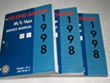 1998 Gm M/l Van Chevrolet Astro GMC Safari Service Manuals (3 Volume Set)