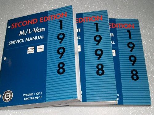 1998 Gm M/l Van Chevrolet Astro GMC Safari Service Manuals (3 Volume Set)