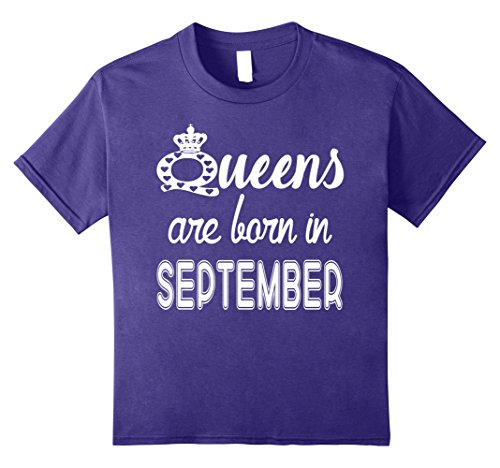 Queens Are Born In September T-Shirt 8 Purple