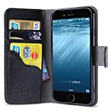 iphone6 cover card holder - iPhone 6s Plus Case, [Wallet Case] i-Blason KickStand Apple iPhone 6 Plus Case 5.5 Inch Leather Cover with Credit Card [ID Holders] (Black)