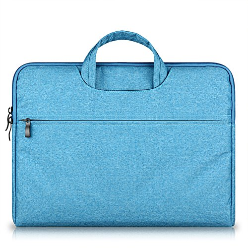 15.6 16 inch Canvas Fabric Multi-functional Business Laptop Sleeve / Carrying Handbag Briefcase / Laptop Bag for All 15 15.6 Inch Acer Asus Dell Lenovo Hp Samsung Toshiba