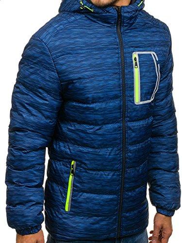 Azzurro Con – Invernale Uomo Vd Da 166 Bolf 4d4 Trapuntato Stile Tl Fashion Cappuccio Xxl Giubbotto Sportivo w6Un4HqS