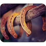 Horseshoe Horse shoes Large Mousepad Mouse Pad Great Gift Idea by MYDply