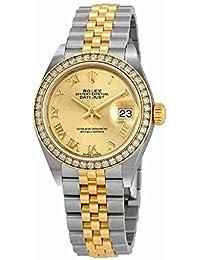 Lady Datejust Champagne Roman Dial Diamond Bezel Automatic Watch 279383CRJ