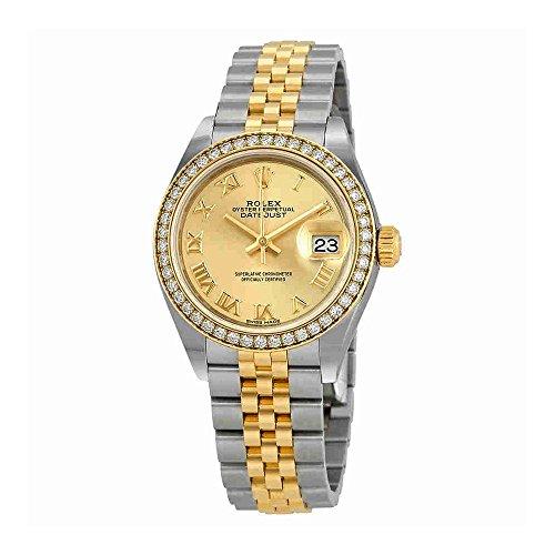 Rolex Lady Datejust Champagne Roman Dial Diamond Bezel Automatic Watch 279383CRJ