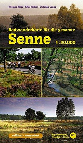 Radwanderkarte Für Die Gesamte Senne  1 50.000  Radwanderführer Senne