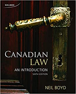 Canadian Law: An Introduction by Neil Boyd (2014-07-30)