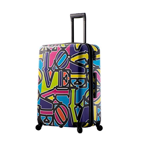 Mia Toro Love Collection Hard Side 28 Inch Spinner, LCP, Purple