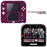 Monster High Ghoul Hot Pink Skull Decorative Video Game Decal Cover Skin Protector for Nintendo 2Ds