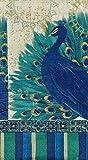 Cypress Home Set of 15 Guest Towels Hostess Buffet Paper Napkins ~ Resplendent Peacock