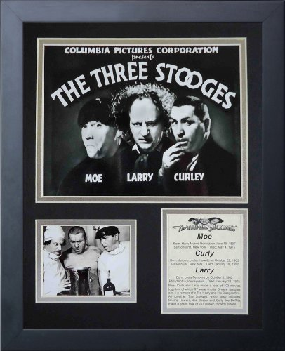 Legends Never Die The Three Stooges Marquee Framed Photo Collage, 11x14-Inch