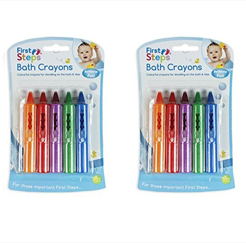 Baby Bath Crayons Pack of 10 for Fun in Bath - Non Toxic Bath Toys First Steps RSW
