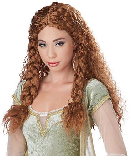 California Costumes Women's Viking Princess Wig Ren Faire, Brunette, One Size ()