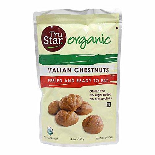 TruStar Organic Italian Chestnuts Gluten Free - No Sugar Added - No Preservatives - Ready To Eat - Kosher - 4 Pack (Star Italian)