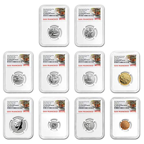 2018 S Silver Reverse Proof Set PF-70 NGC (First Day of Issue) Silver PF-70 NGC