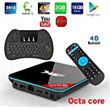 APES Q Plus QBOX+ Octa Core 1080p 4K 3D 16GB/2GB Android 7.1 Amlogic S912 Dual Wifi Bluetooth 4.1 TV Streaming Media Set Top Box+Wireless Keyboard Remote Control